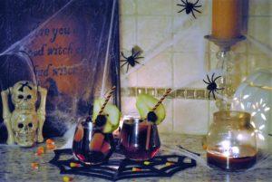halloween decor, halloween sangria, spooky sangria